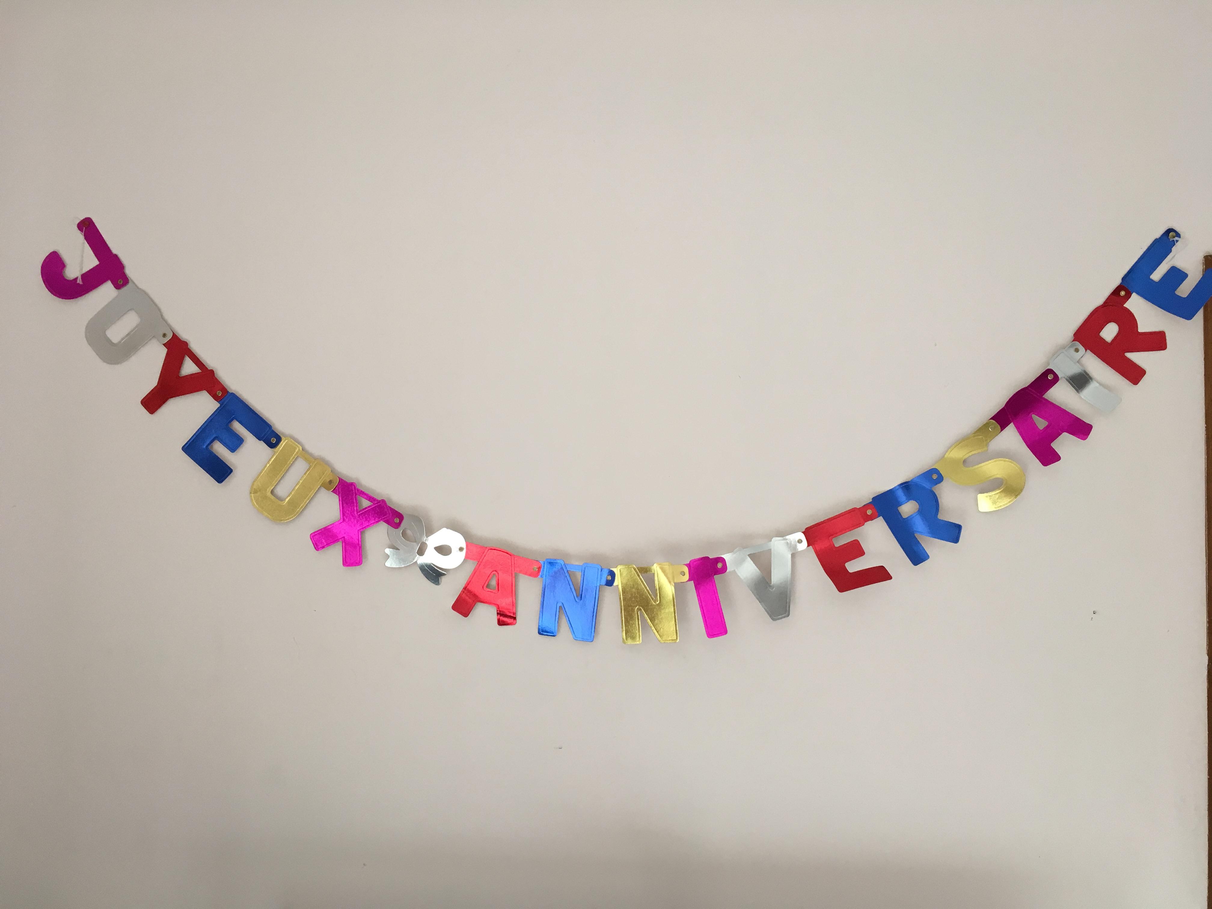 Banderole anniversaire